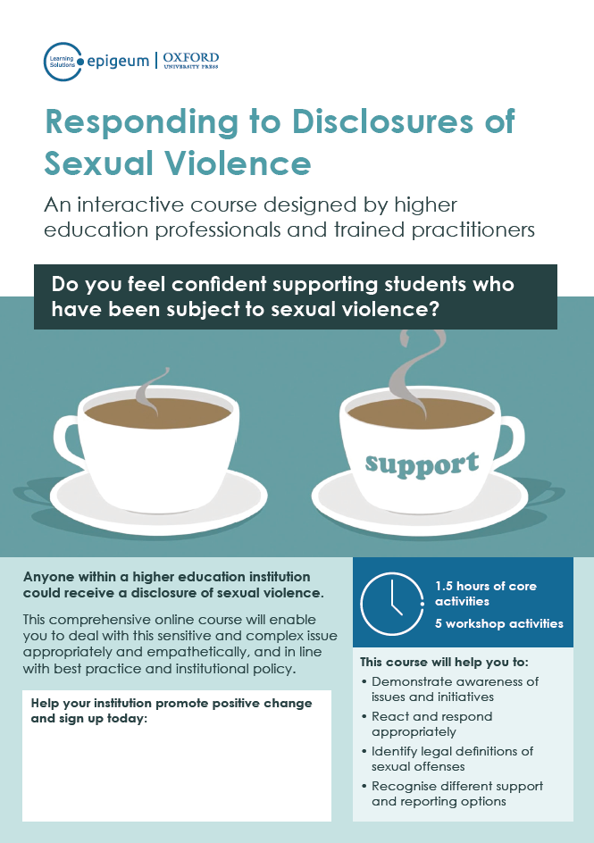 Responding to Disclosures of Sexual Violence Poster