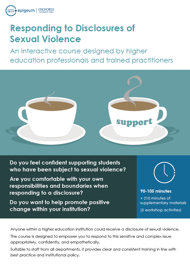 Responding to Disclosures of Sexual Violence Flyer